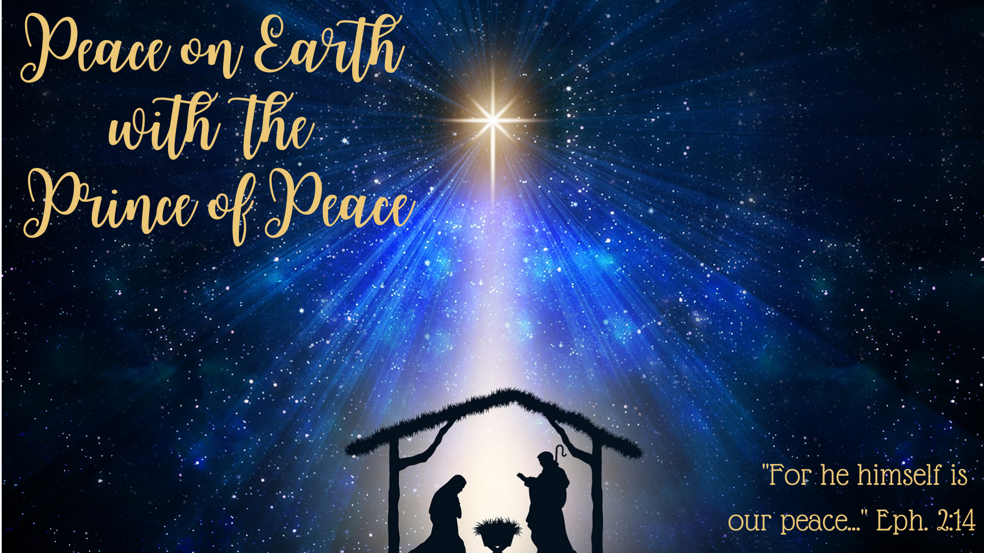 Christmas Eve 2020 – Entering the Peace of Jesus